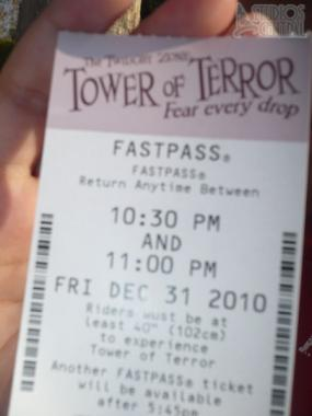 FASTPASS for Tower of Terror
