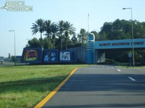 Toy Story picture on the filmstrip in front of Disney Hollywood Studios
