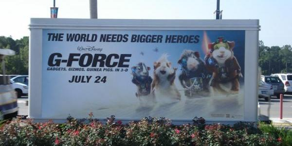 G-Force signs have popped up throughout the park