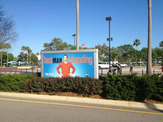 New billboard in parking lot