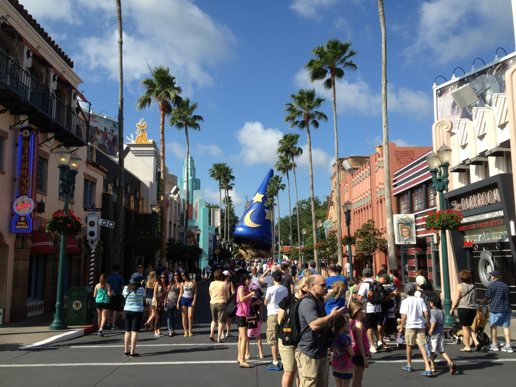 Hollywood Boulevard on a hot but great day