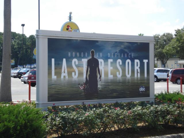A new billboard is up for ABC's new submarine show The Last Resort