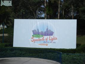The new sign outside of the gates promoting the Osbourne Lights
