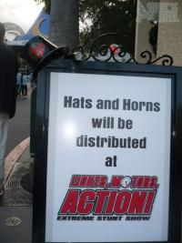 Hats and Horns sign