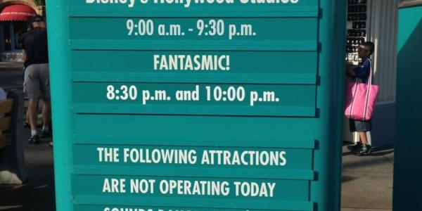 Today in Disney's Hollywood Studios