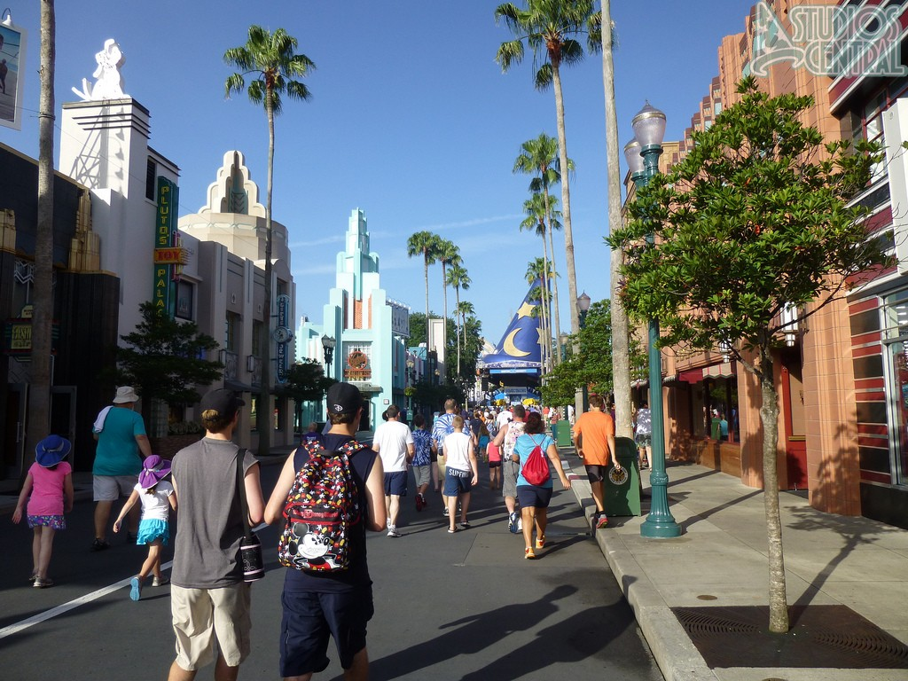 Hollywood boulevard on a sunny morning