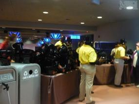 Hats and horns distribution at American Idol Experience