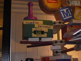 Toy Story Miway Mania wait time