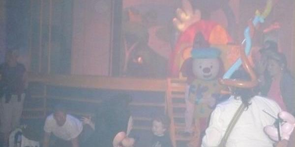 Mickey dancing with little boy
