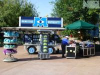 Monsters U special merchandise cart near the hat