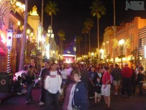Looking down Hollywood Boulevard