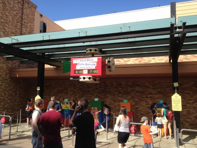 FASTPASS for Toy Story Midway Mania going fast