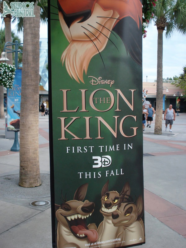 New Lion King banners up in the Animation Courtyard