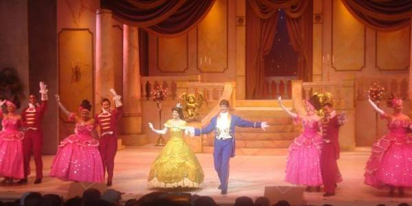 Beauty and the Beast performers taking a bow
