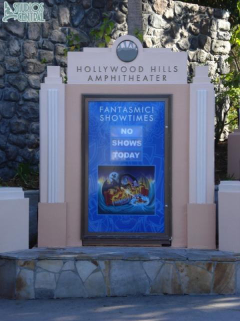 No Fantasmic! shows scheduled for the day