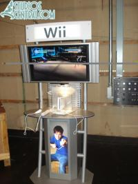 Wii kiosks in Wicket's Warehouse allowing people to play Star Wars the Clone Wars