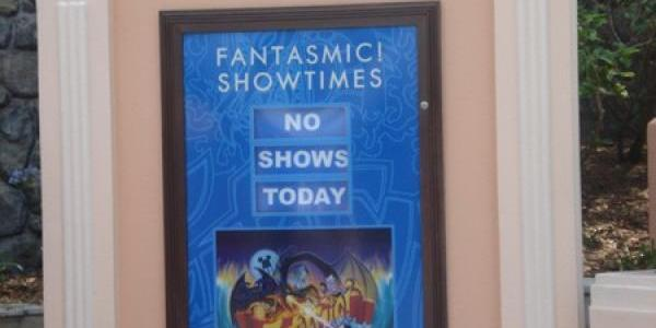 Surprisingly, no Fantasmic!, even in the busy summer season.