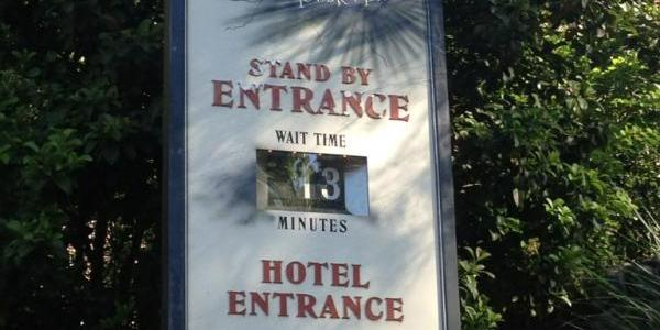 No wait at Tower of Terror