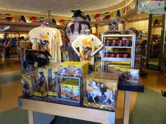 The Lone Ranger Merchandise display is ready