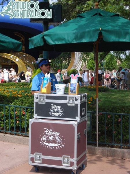 Temporary DVC kiosk.