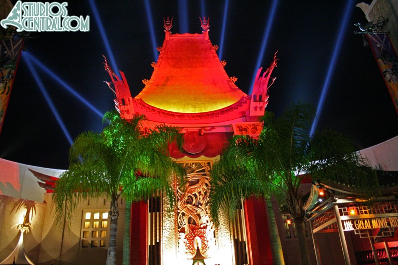 Great Movie Ride at night