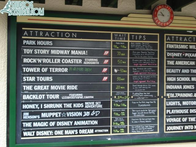 Wait times at 10:45 am.