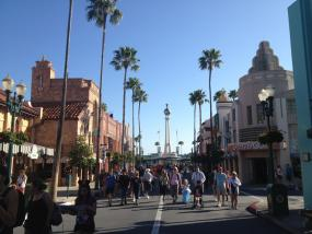 Looking back down Hollywood Boulevard