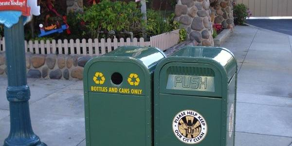 More recycling bins are appearing throughout the park