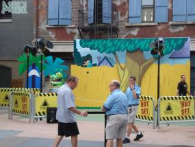 Phineas and Ferb meet and greet set up