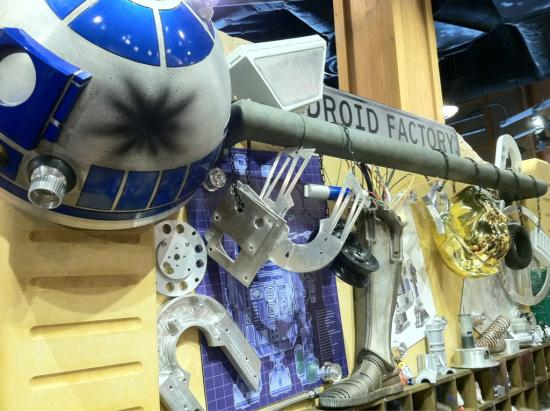 Details at the Star Wars Droid Factory station