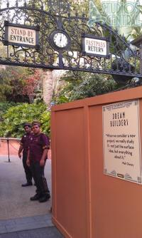 Box in front of Tower of Terror