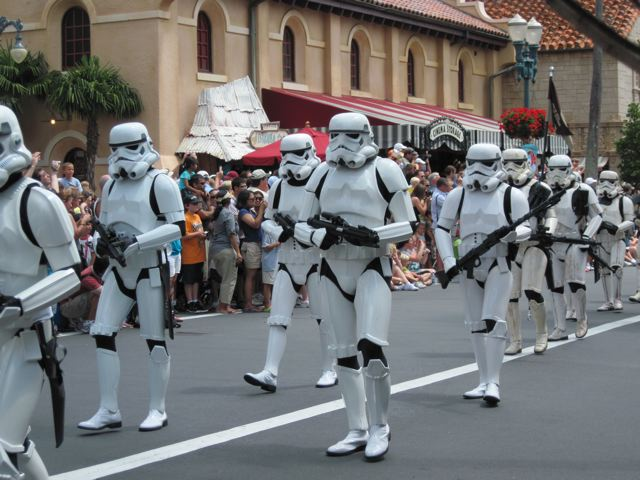 Storm Troopers marching