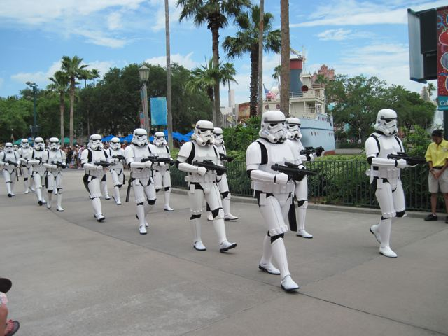 Storm Troopers on parade