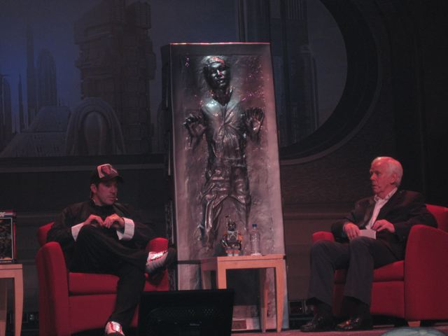 Ray Park talking to Jeremy Bulloch