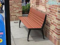 A new style of bench found on Pixar Place