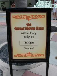 Great Movie Ride closing early