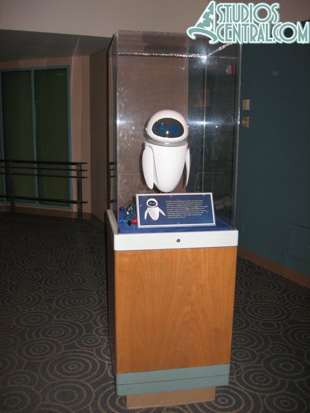 "Lots of Wall E ""props"" and information on display at the end of the Magic of Disney Animation"