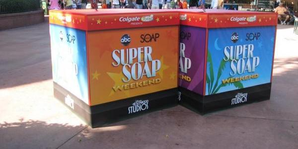 Super Soap Weekend signage