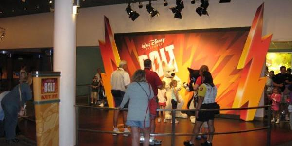 "The new ""Bolt"" meet-n-greet area at the end of Magic of Disney Animation"