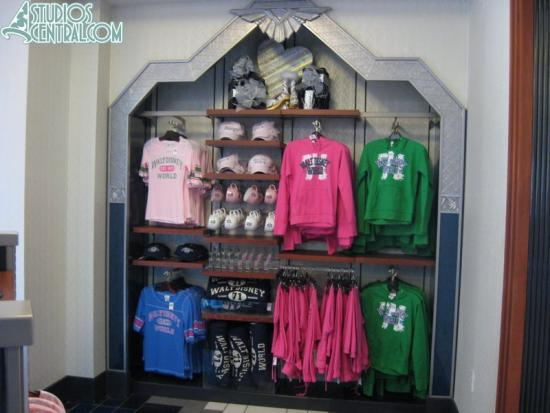 Merchandise display inside Mouse About Town