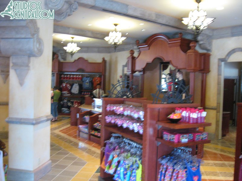 Merchandise inside Carthay Circle Theater