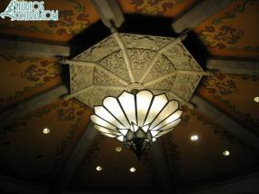 The beautiful ceiling inside Carthay Circle Theater
