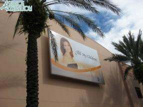 New billboard for Super Soap Weekend on Commissary Lane
