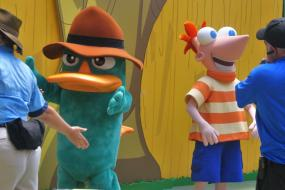 Agent P joined the boys the day before