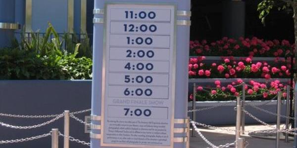 American Idol Experience times