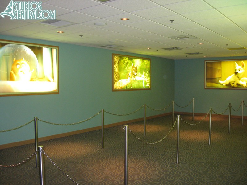 """There are still """"Bolt"""" photos in the queue behind the character area"""
