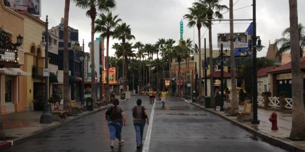Looking back down Sunset Boulevard
