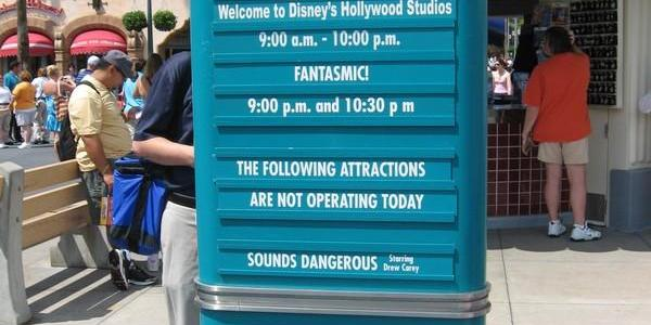 No Sounds Dangerous, but TWO showings of Fantasmic!