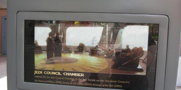 ...from the Jedi Council Chamber from the prequel trilogy