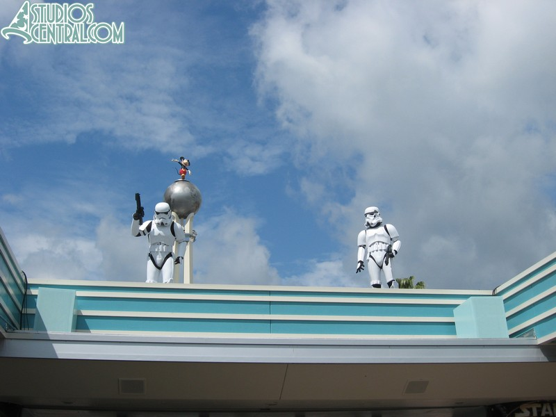 Storm Troopers on guard above the entrance